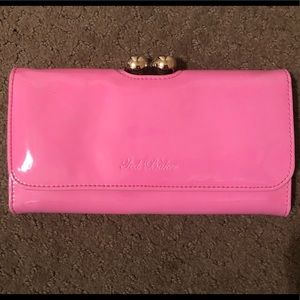 Ted Baker clutch bobble wallet pink